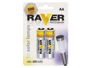 Baterie AA Raver Rechargeable FOR SOLAR LAMPS B7426 4.30zł./1szt.