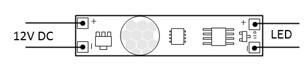 Włącznik do led z czujką ruch 12V/24V DC