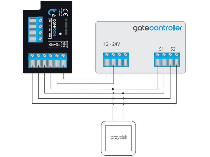 gatebox schemat podłączenia